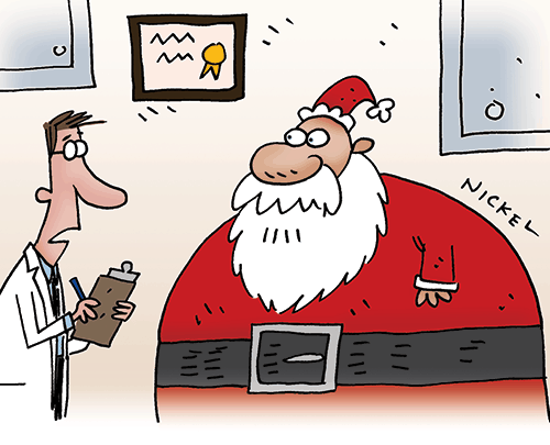 Santa's Cholesterol – Cartoon